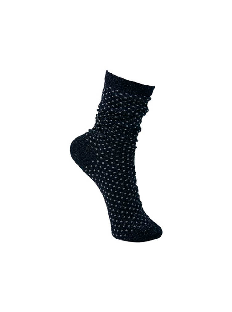 Lurex Dotted Sock Navy