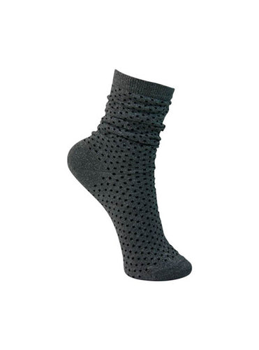 Lurex Dotted Sock Silver