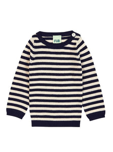 FUB BLUSE STRIPED RIB NAVY