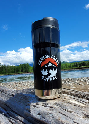 Ceramic lined, logo travel mugs