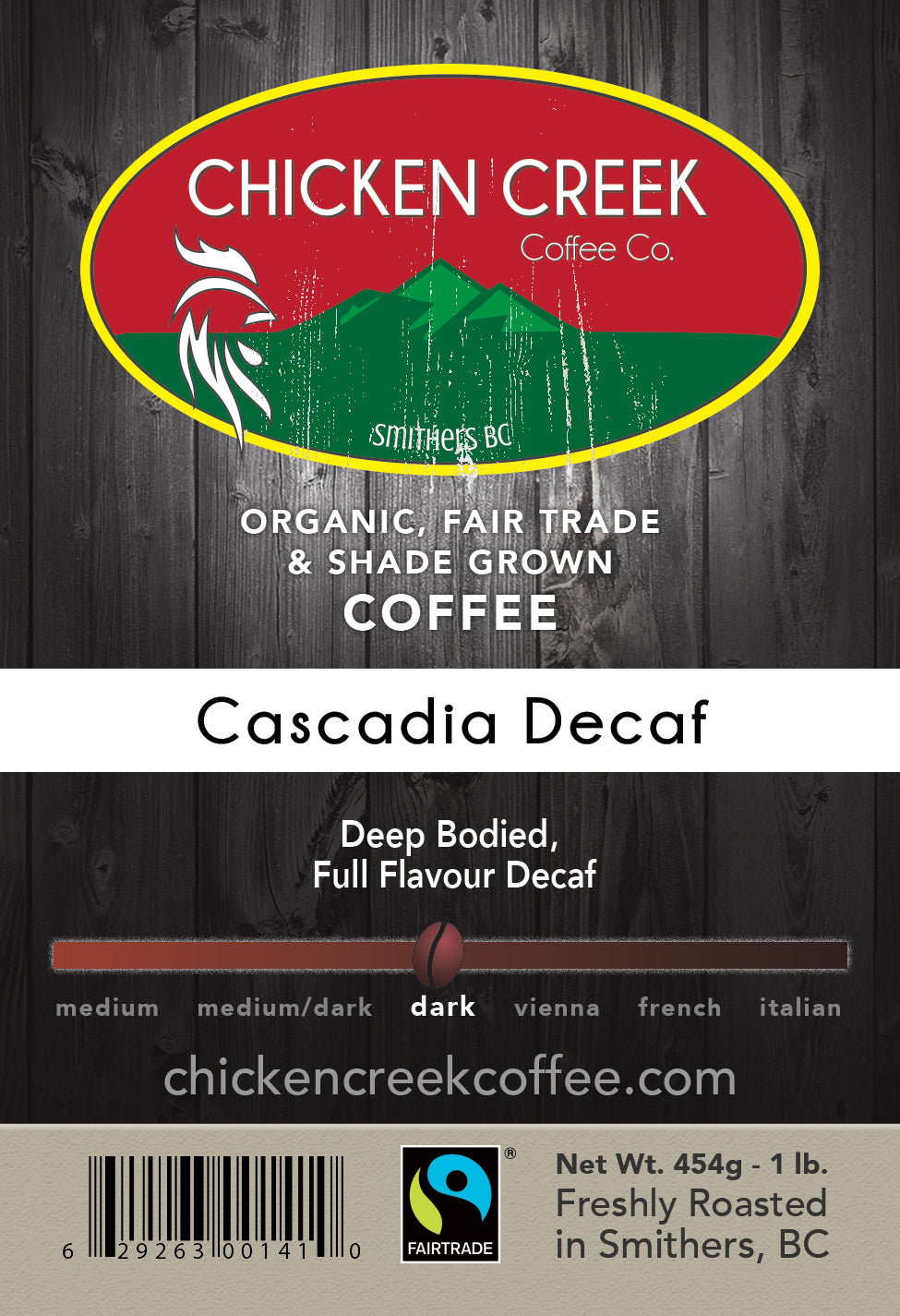 Cascadia Decaf Organic Coffee