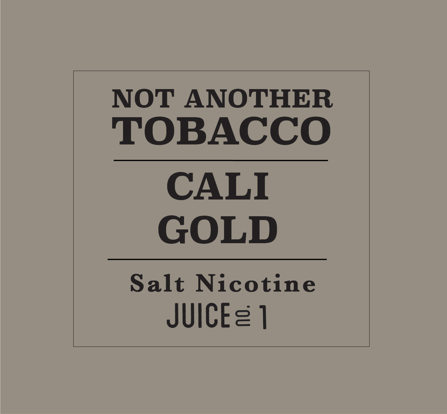 Cali Gold by Not Another Tobacco Salt - Wick And Wire Co Nicotine Eliquid New Zealand