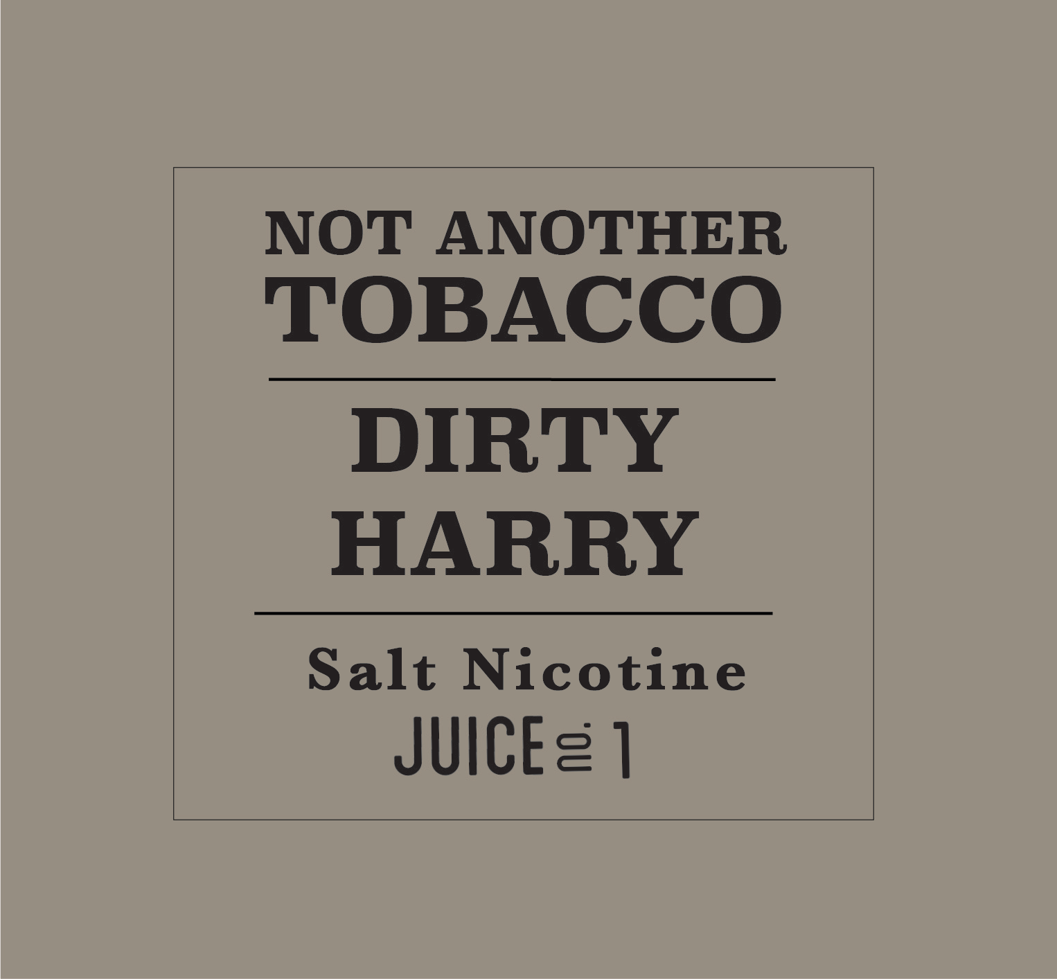Dirty Harry by Not Another Tobacco Salt - Wick And Wire Co Nicotine Eliquid New Zealand