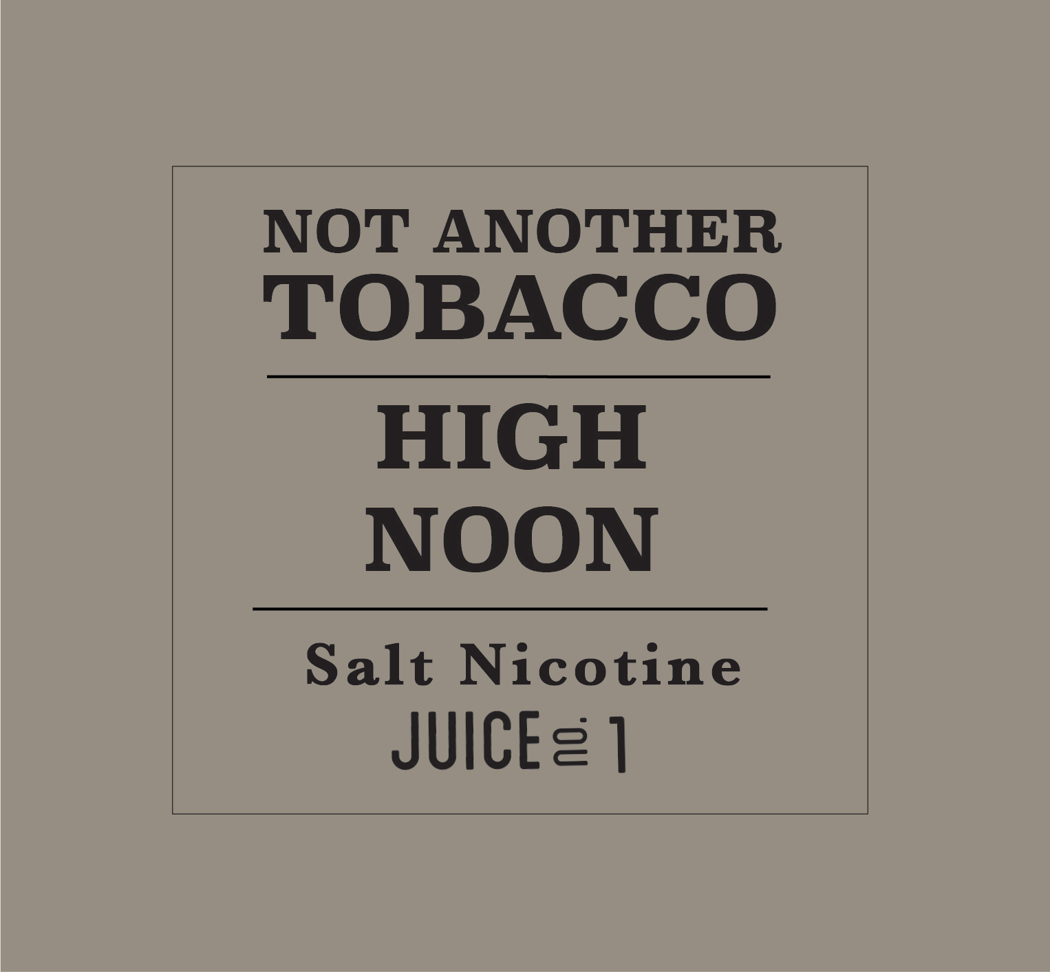 High Noon by Not Another Tobacco Salt - Wick And Wire Co Nicotine Eliquid New Zealand