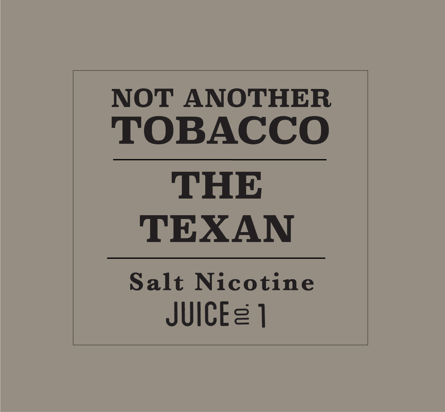 The Texan by Not Another Tobacco Salt - Wick And Wire Co Nicotine Eliquid New Zealand