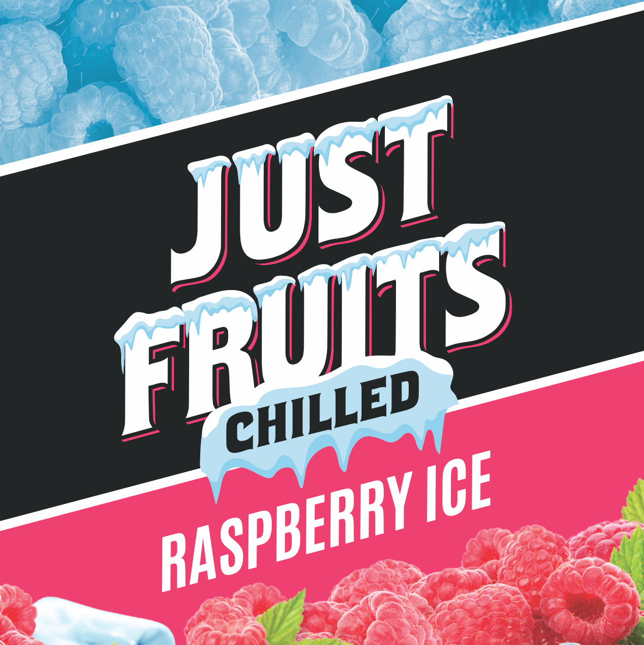 Chilled Series - Raspberry Ice by Just Fruits - Wick And Wire Co Nicotine Eliquid New Zealand