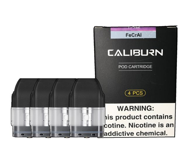 Caliburn Replacement Pods - 4 Pack by Uwell - Wick And Wire Co Nicotine Eliquid New Zealand