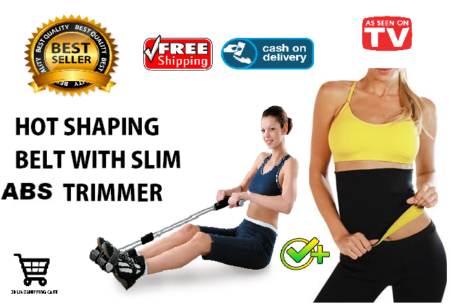 BEST SELLER! Hot Shaping Belt Plus Slim Abs Trimmer