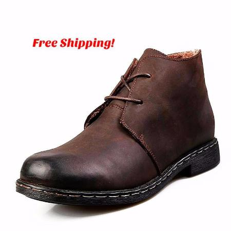 British Style Vintage Men's Leather Boots