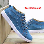 Men's Casual Plimsoll Platform Shoes
