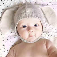 Toddler Kids Knitted Bunny ears Hat 0-2Y
