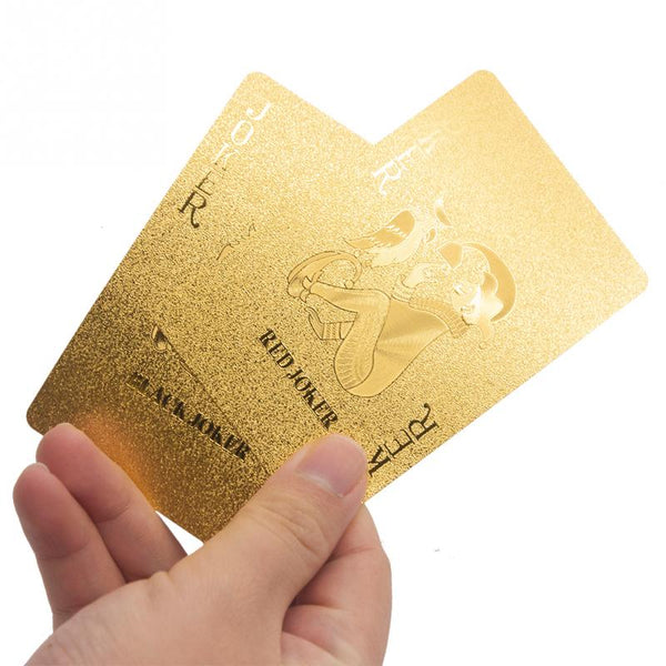 24k Gold Poker Playing Cards