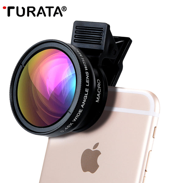 Phone Professional HD Camera Lens Kit 0.45X Wide Angle+12.5X Macro