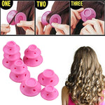 10Pcs No Clip Silicone Hair Curlers