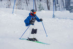 Skier racing down the hill