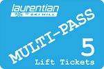 Lift Ticket 5-Pass Card