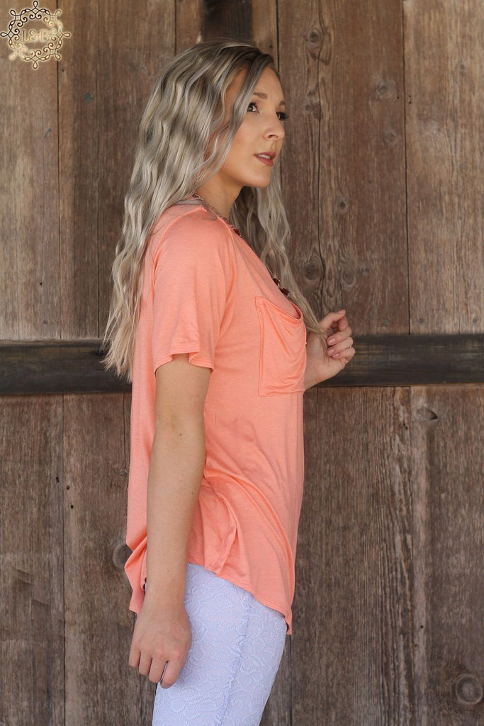 Lucky & Blessed Pocket T-Shirt Western Boho Tops