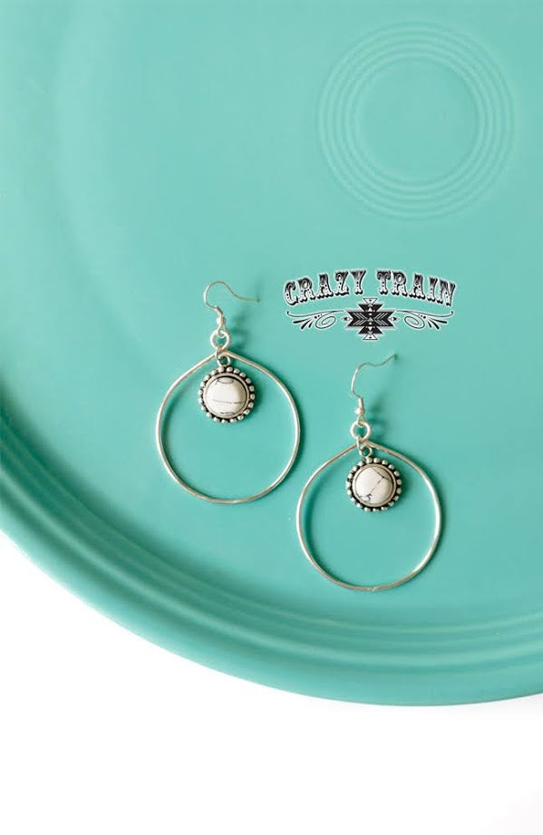 Bear Creek Silver Hoop Earrings 2 colors