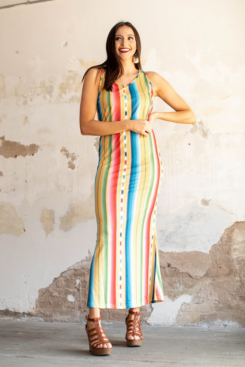 Colorful Serape Maxi Dress