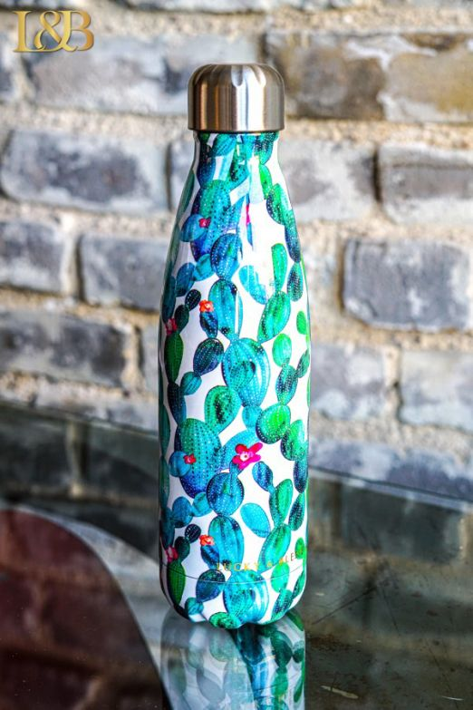 Cactus Dreams Thermos Water Bottle 2 colors (free gift with purchase)