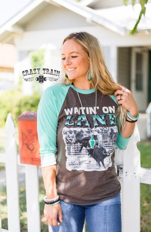 Waitin On Lane Baseball T-shirt Top