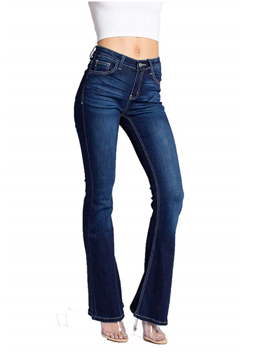Ashley Mid Rise Flare Jeans