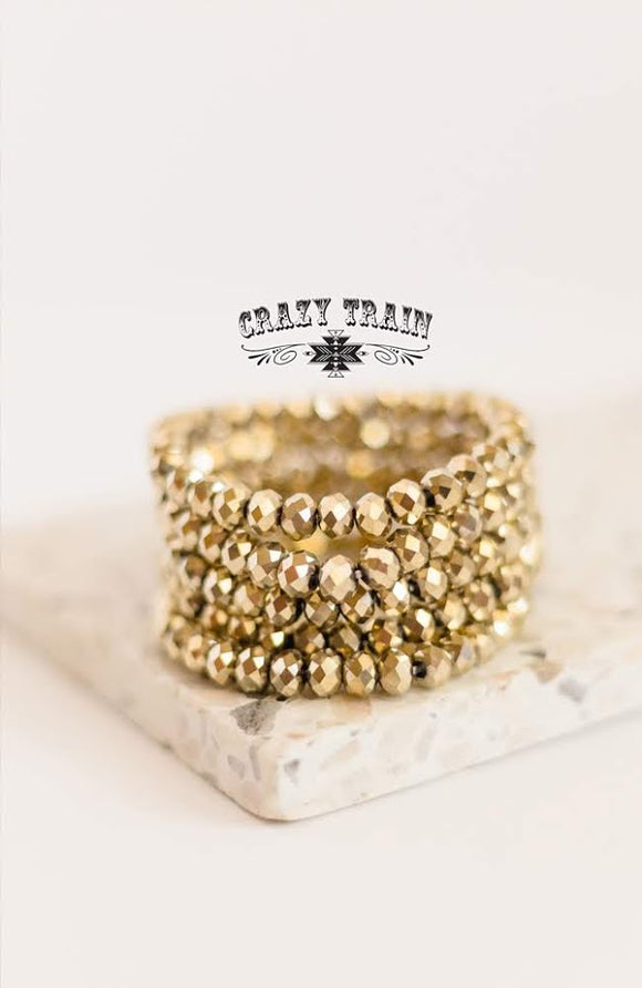 Gold Rush Bead Bracelet