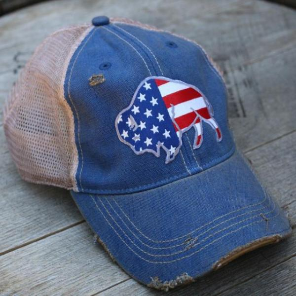 Free to Roam Distressed Cap Hats by Original Cowgirl