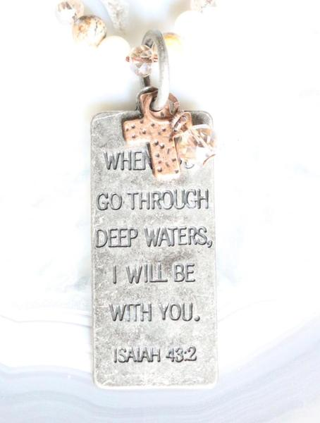 Deep Waters Inspirational Necklace
