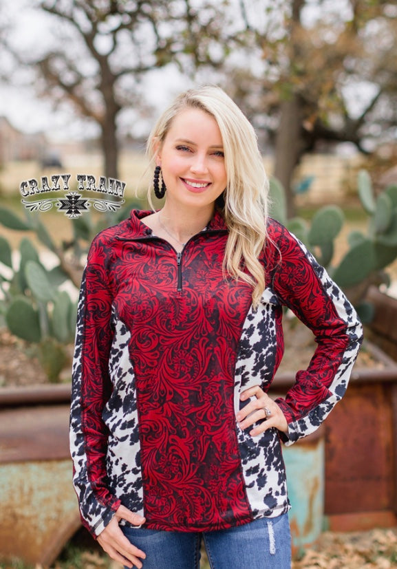 Cowboy Tooled Pullover Top