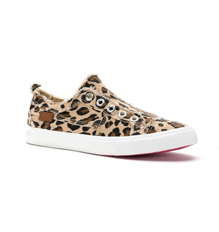Babalu Distressed Leopard Sneaker Tennis Shoe Sandals