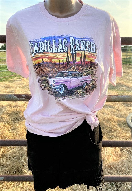 Cadillac Ranch Western Boho T-shirt Tops