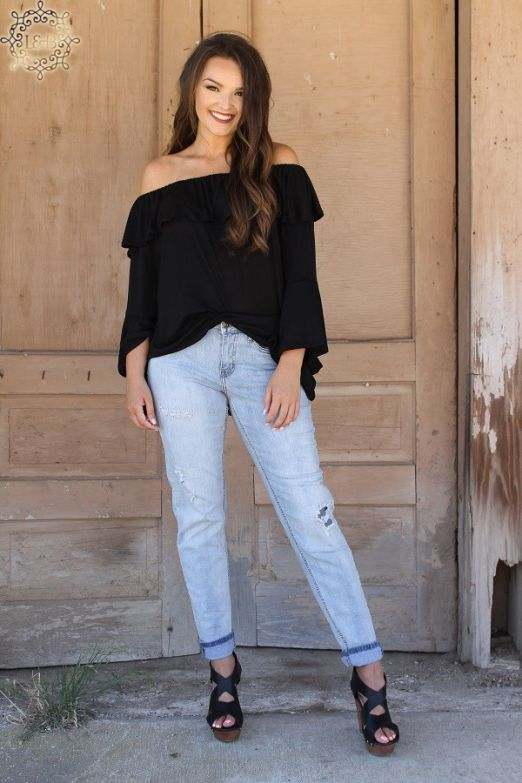 Lightwash Distressed Boyfriend Jeans by Lucky & Blessed