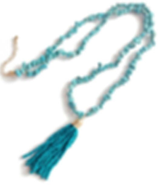 Turquoise Bead Tassle Necklaces