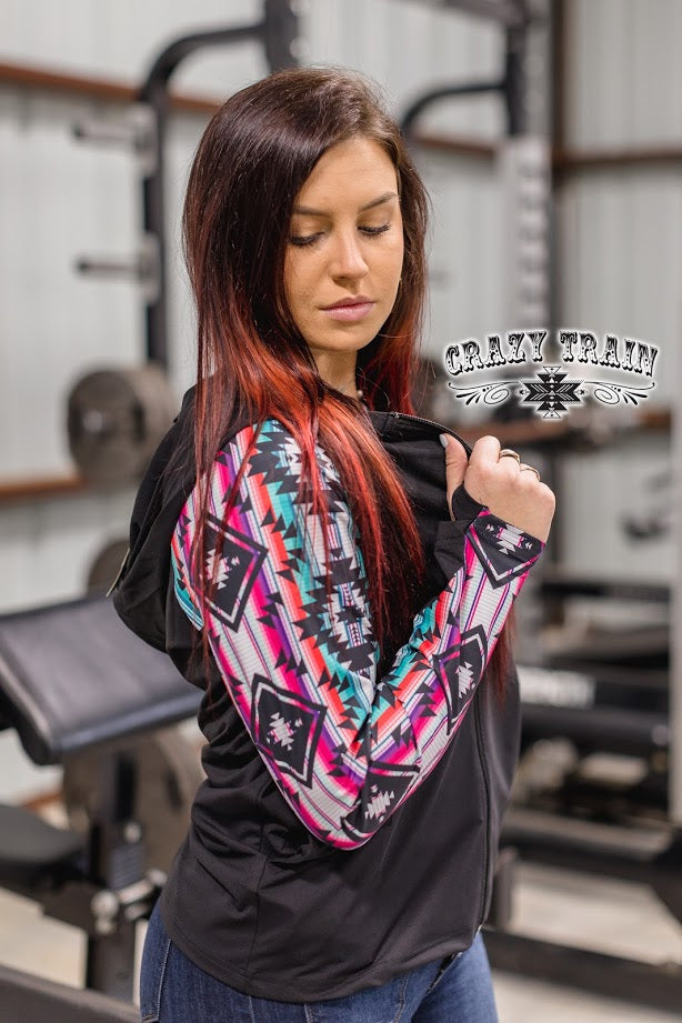 Rack and Roll Workout Hoodie Jacket Top