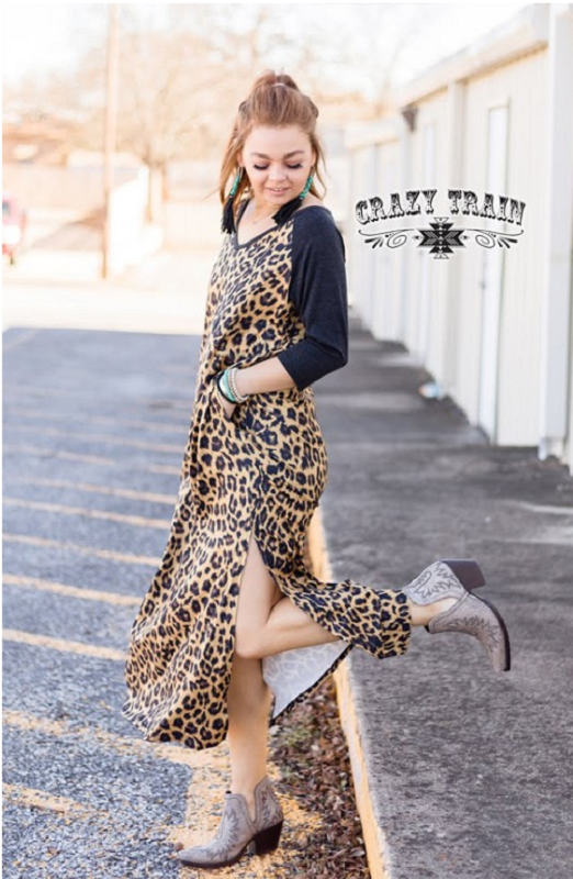 Guinevere Leopard Maxi Dress