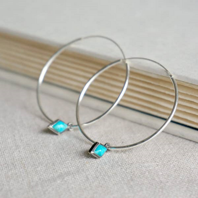 Dior Turquoise Hoop Earrings