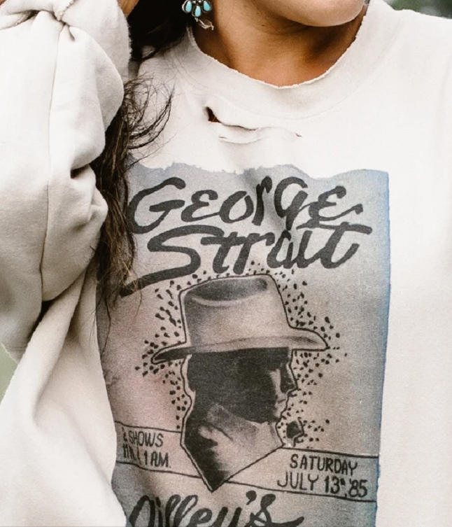 George Strait Gilley's Poster Sweatshirt Tops -  Restocks 3/1