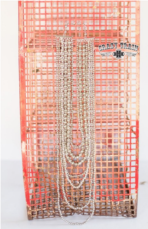 Silverado Multi Strand Silver Bead Necklace