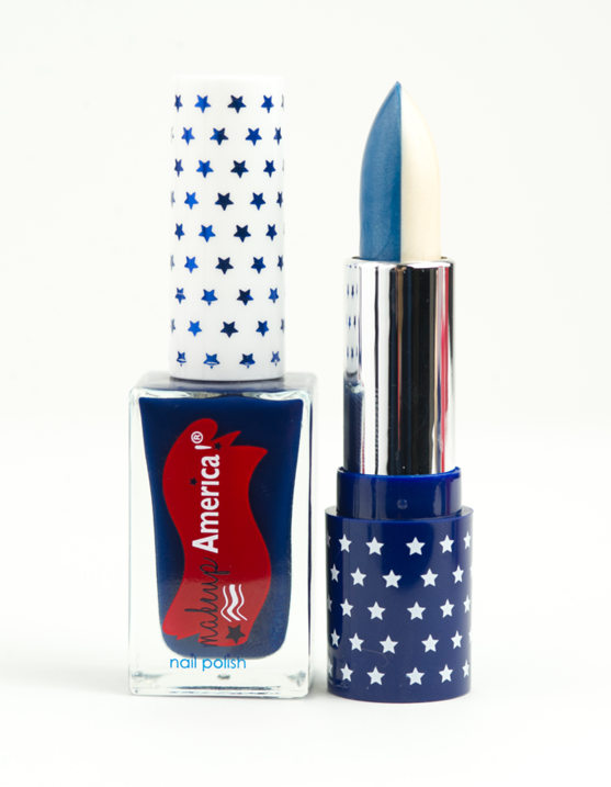 Lady Liberty Blue White Makeup Lipstick