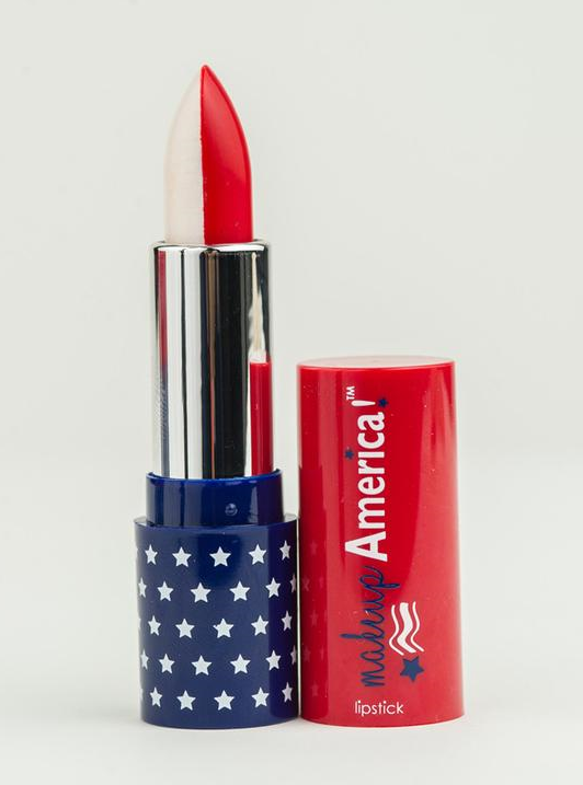 Star Spangled Red White Makeup Lipstick