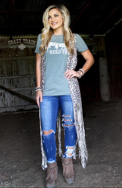 Herd That Western Boho T-shirt Tops