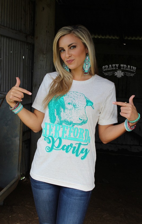 HEREFORda Party Western Boho T-Shirt Tops