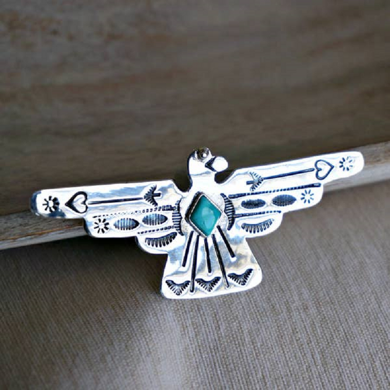 Peyote Bird Turquoise Necklace