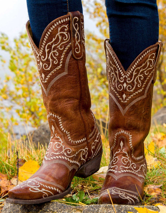 Sintra Embroidered Western Boho Boots by Old Gringo.