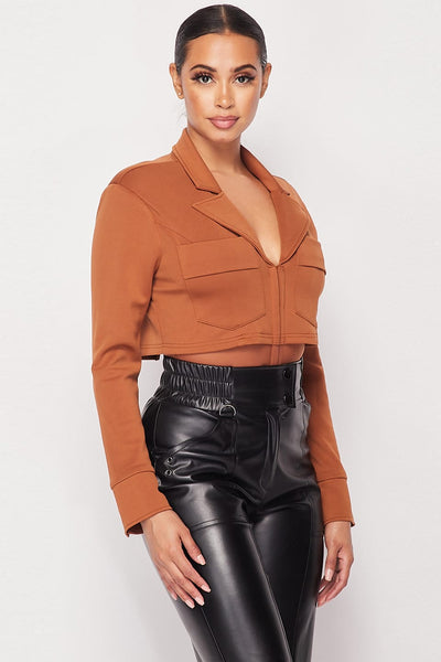 Shoulder Blazer Bodysuit