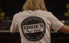 EDDIES WHITE LOGO T - EDDIES TSHIRT
