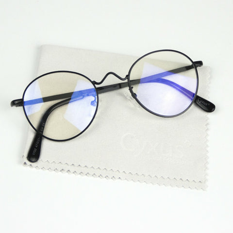 Prescription Eyeglasses Rx Glasses Round Metal Frames for Men Women 8702
