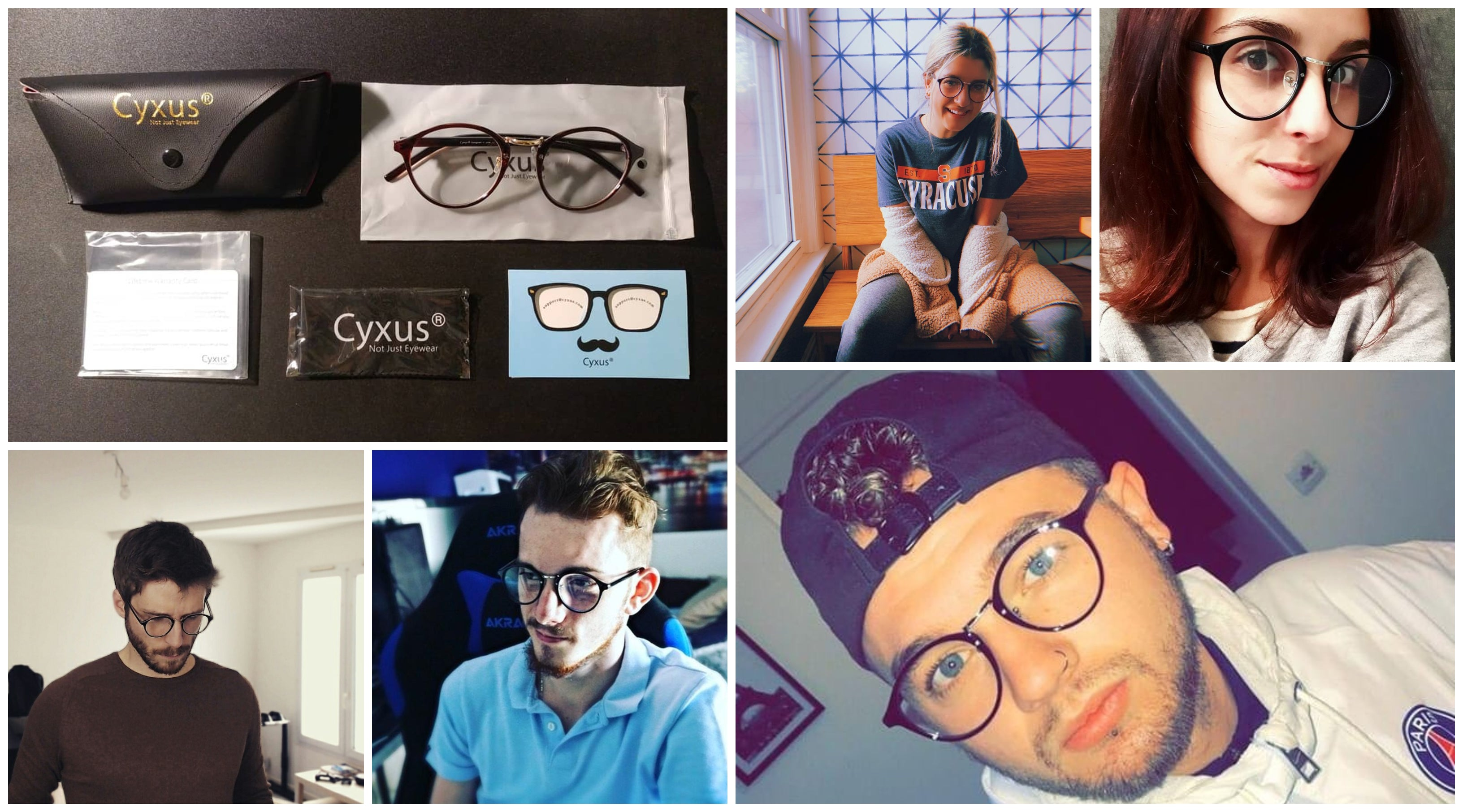 Cyxus Pres時効Eyeグラス Rx Glasses Glasses For Men Women 8065