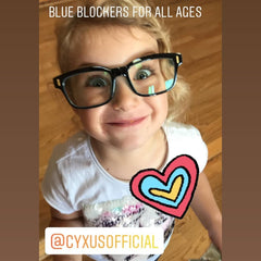 Kid's Blue Light Blocking/Filter Computer Glasses Blue Blockers Cyxus